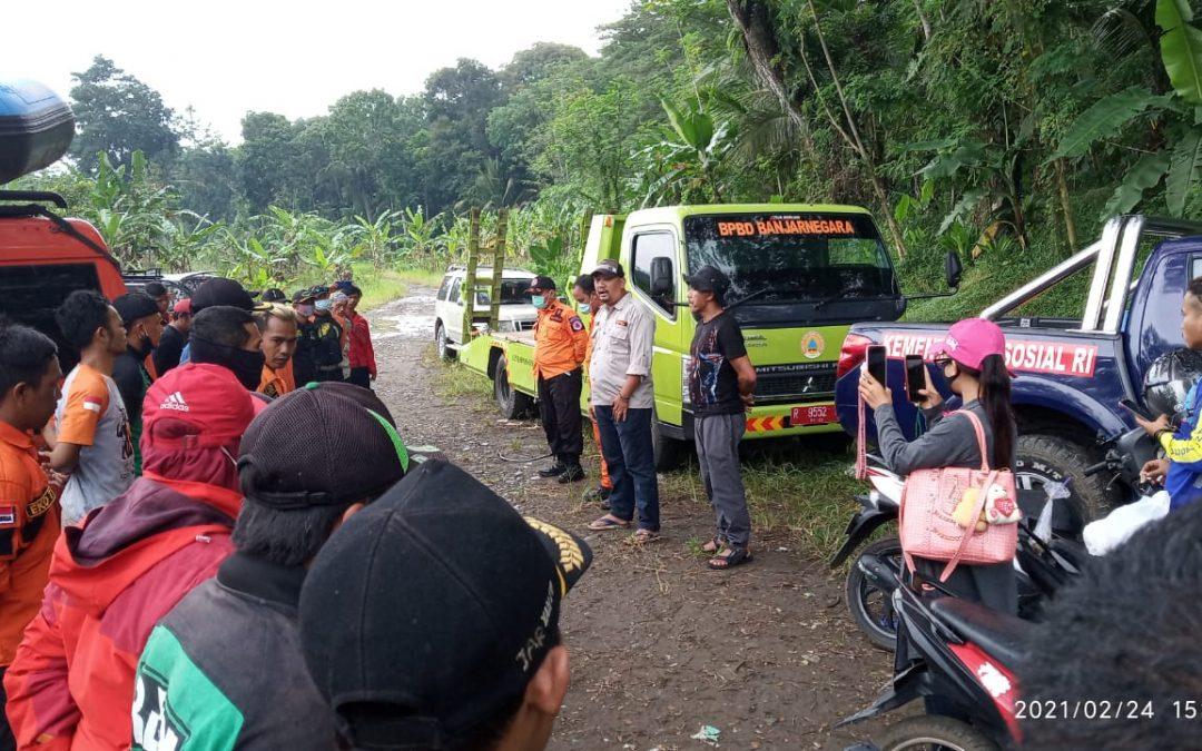 Kabid Kedaruratan dan Logistiik BPBD Kabupaten Banjarnegara memimpin Apel Penutupan Operasi Pencarian Kemarin (24/02/2021)